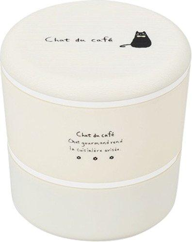 Chat du Café Round Bento Box | White by Showa - Bento&co Japanese Bento Lunch Boxes and Kitchenware Specialists