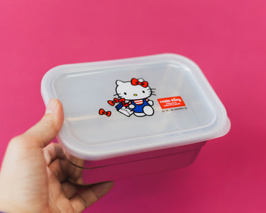 Hello Kitty Ribbon Stainless Steel Container 580mL by Skater - Bento&co Japanese Bento Lunch Boxes and Kitchenware Specialists