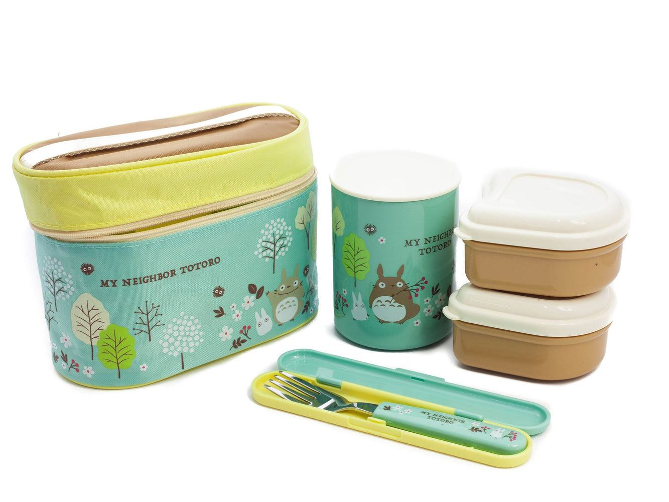 Totoro Field Thermal Lunch Set by Skater - Bento&co Japanese Bento Lunch Boxes and Kitchenware Specialists