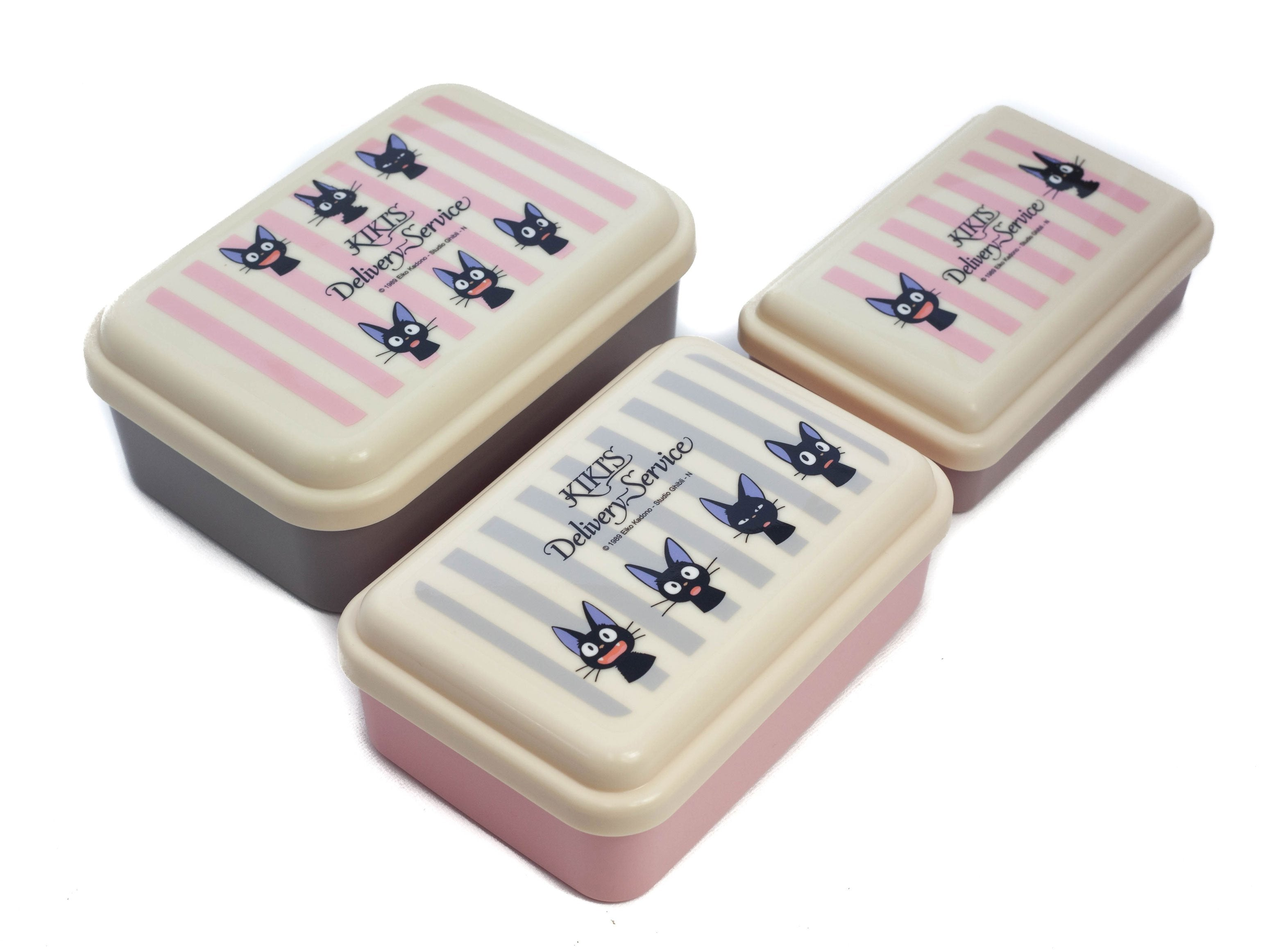 Jiji Stripes Compact Three Piece Set by Skater - Bento&co Japanese Bento Lunch Boxes and Kitchenware Specialists