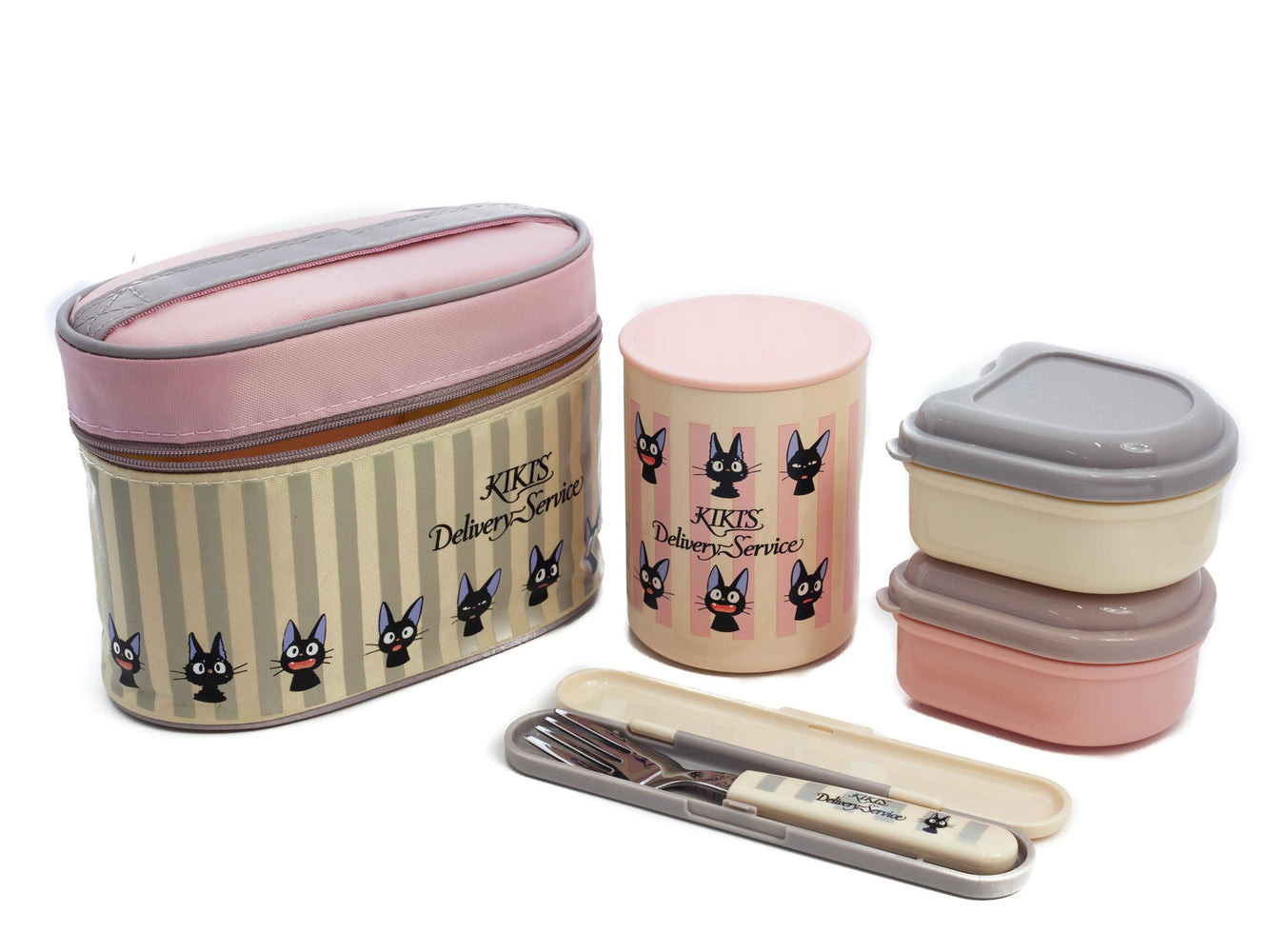 Jiji Stripes Thermal Lunch Set by Skater - Bento&co Japanese Bento Lunch Boxes and Kitchenware Specialists