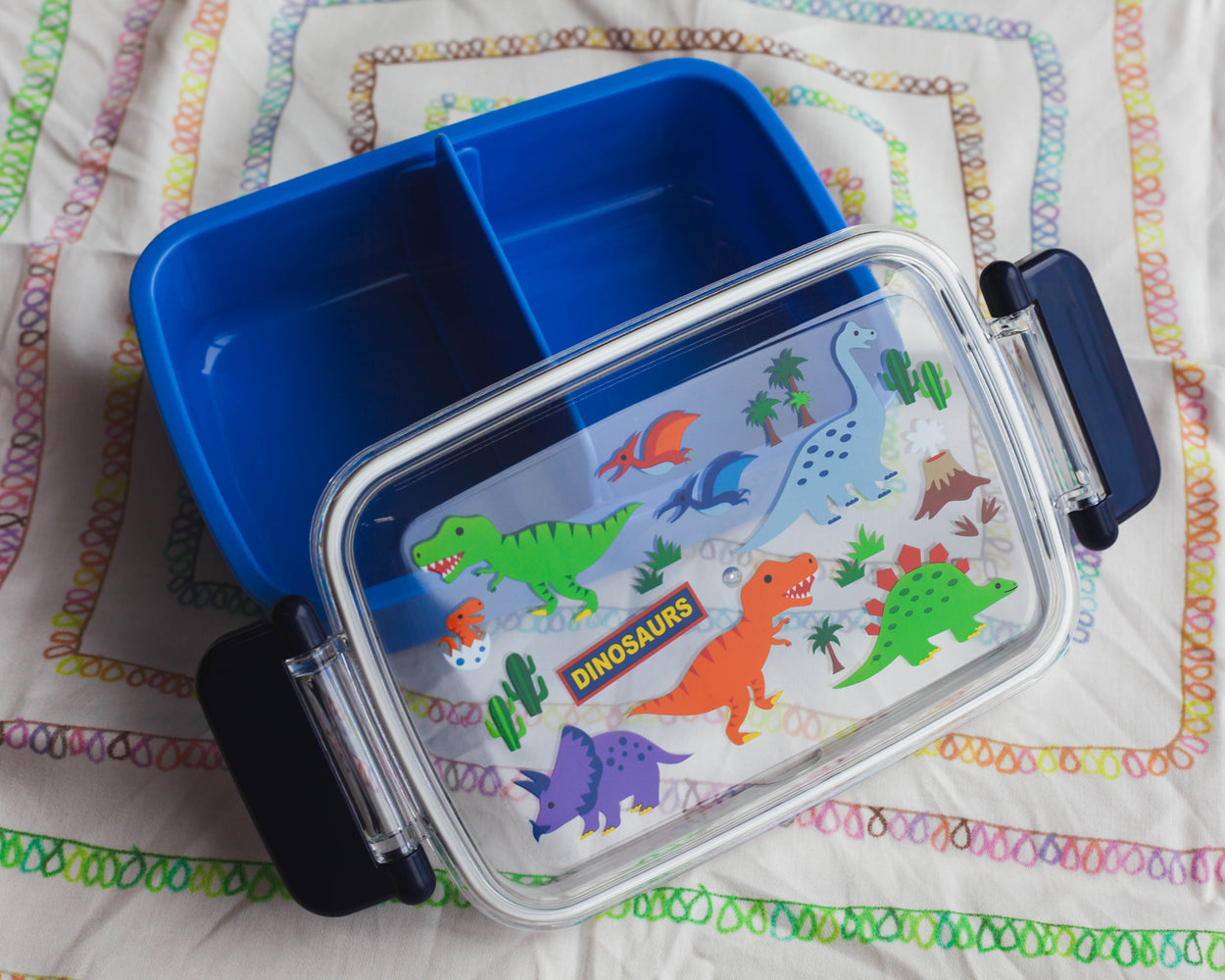 Dinosaurs Side Lock Bento Box | Rectangle by Skater - Bento&co Japanese Bento Lunch Boxes and Kitchenware Specialists