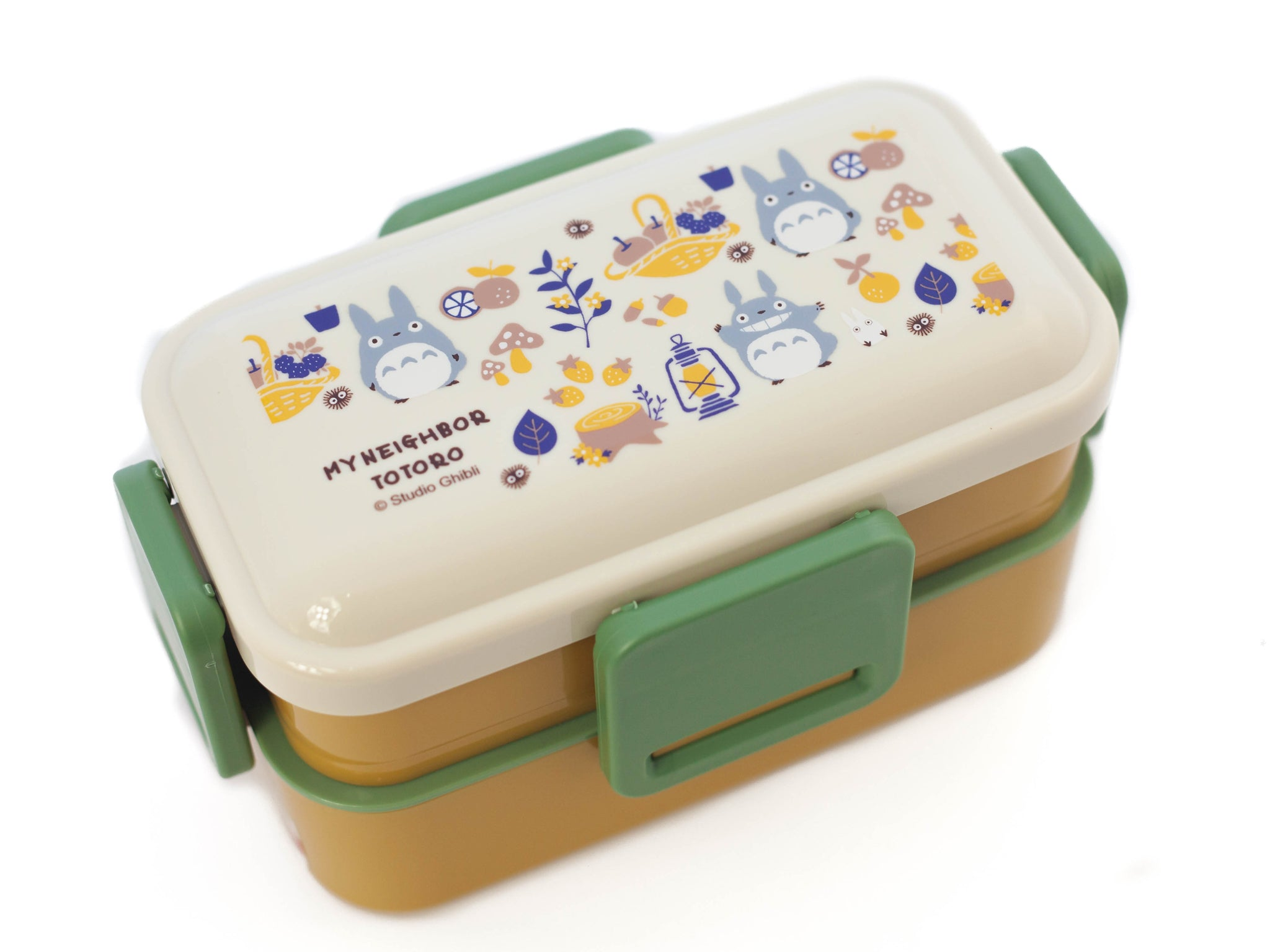 Totoro Harvest Two Tier Side Lock Bento Box 600ml by Skater - Bento&co Japanese Bento Lunch Boxes and Kitchenware Specialists