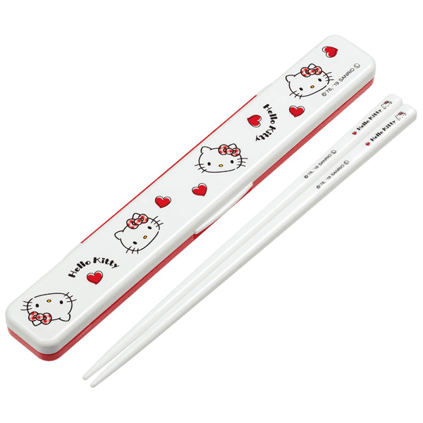 Hello Kitty Chopsticks Set | Red Hearts
