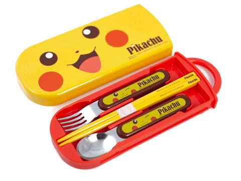 Pikachu Face Slide Cutlery Trio Set