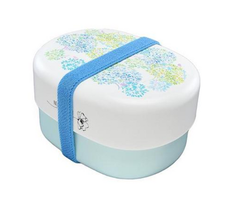 Spring Bouquet Oval Bento Box | Hydrangea by Takenaka - Bento&co Japanese Bento Lunch Boxes and Kitchenware Specialists