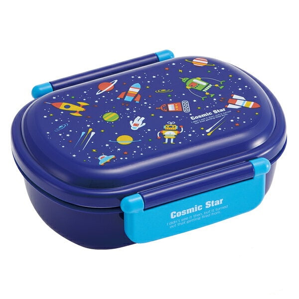 Cosmic Star Side Lock Bento Box | Oval by Skater - Bento&co Japanese Bento Lunch Boxes and Kitchenware Specialists
