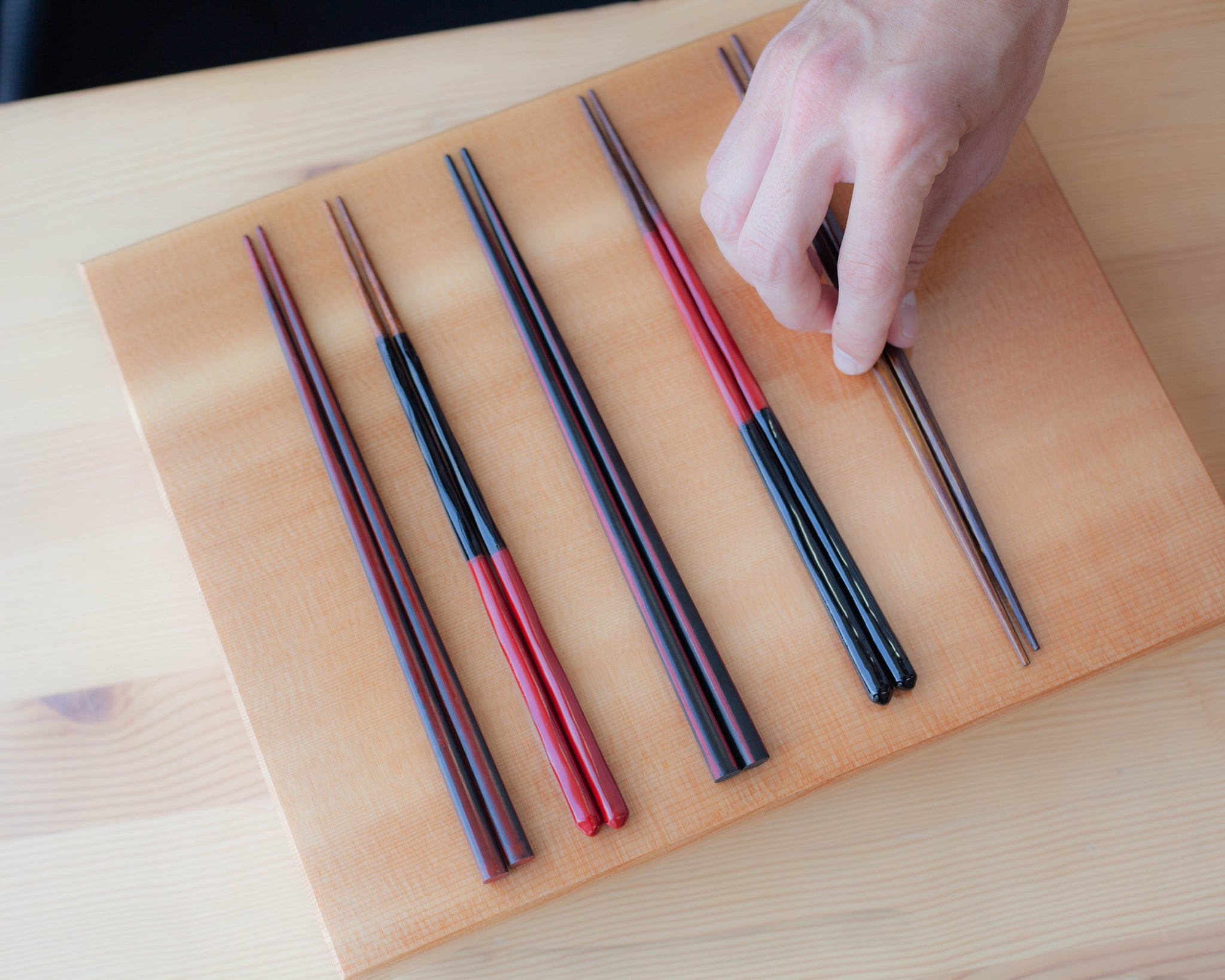 Artisan Square Chopsticks | Red by Style of Japan - Bento&co Japanese Bento Lunch Boxes and Kitchenware Specialists