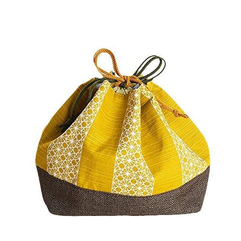 Asanoha Leaf Lunch Bag | Yellow by Sabu Hiromori - Bento&con the Bento Boxes specialist from Kyoto