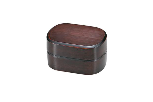 Yamato Stripe Oval Bento Box by Hakoya - Bento&co Japanese Bento Lunch Boxes and Kitchenware Specialists