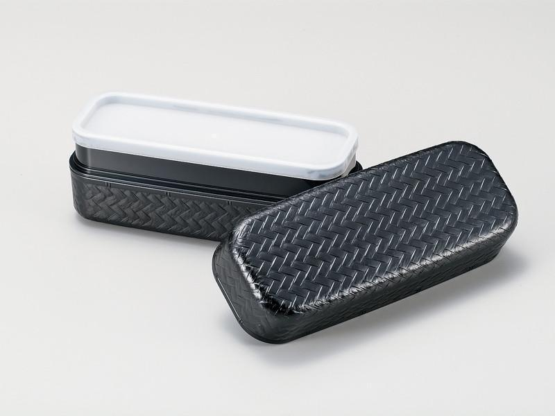 Ajiro Slim Two Tier Bento Box Small | Black by Hakoya - Bento&co Japanese Bento Lunch Boxes and Kitchenware Specialists