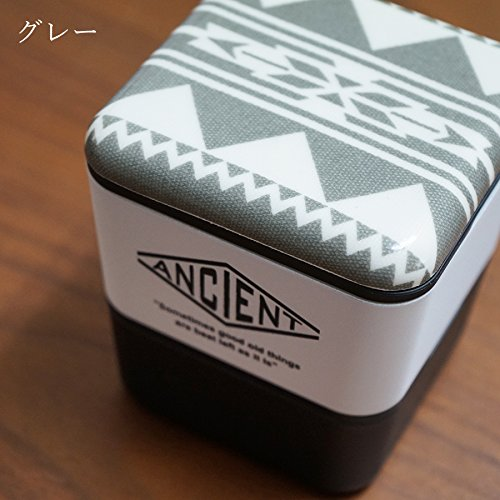 Ancient Square Nest Urban Native (Grey) by Showa - Bento&co Japanese Bento Lunch Boxes and Kitchenware Specialists
