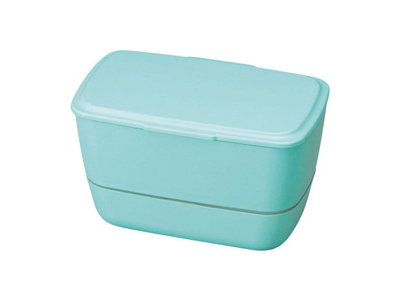 Cool-Bento 2-stack Lunch Box | Sunny Sea Blue by Hakoya - Bento&co Japanese Bento Lunch Boxes and Kitchenware Specialists