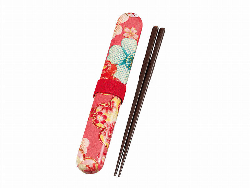 Flower Yuzen Chopsticks Set | Pink by Hakoya - Bento&co Japanese Bento Lunch Boxes and Kitchenware Specialists