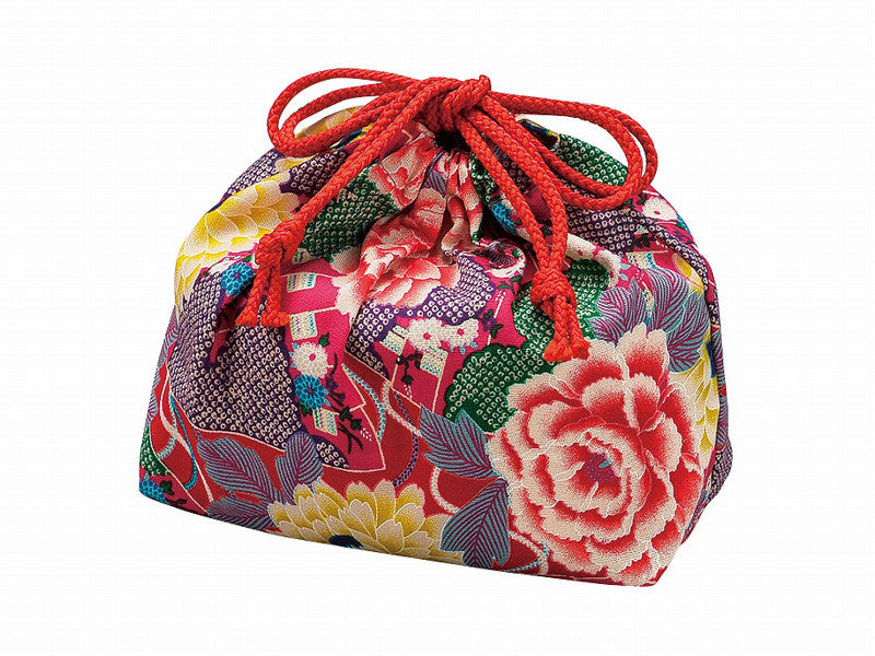 Kimono Drawstring Bag M | Rose by Hakoya - Bento&con the Bento Boxes specialist from Kyoto