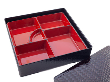 Red and Black japanese bento box