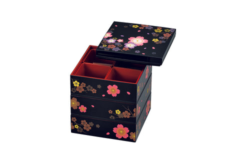 Colorful Sakura Three Tier Picnic Bento Box