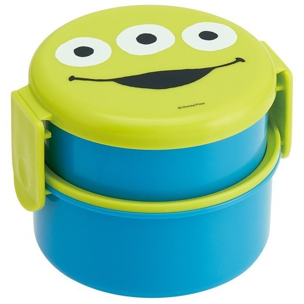 Aliens Round Two Tier Lunch Bowl by Skater - Bento&co Japanese Bento Lunch Boxes and Kitchenware Specialists