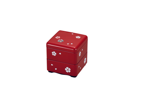 Sakura Square Bento Box Small | Red