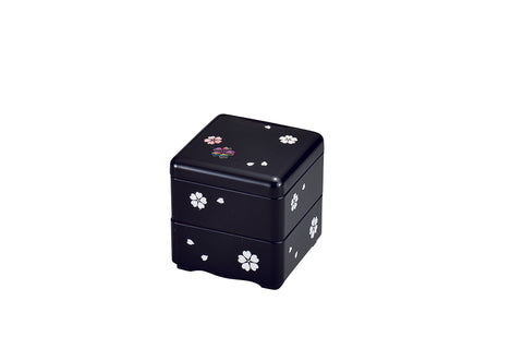 Sakura Square Bento Box Small | Black