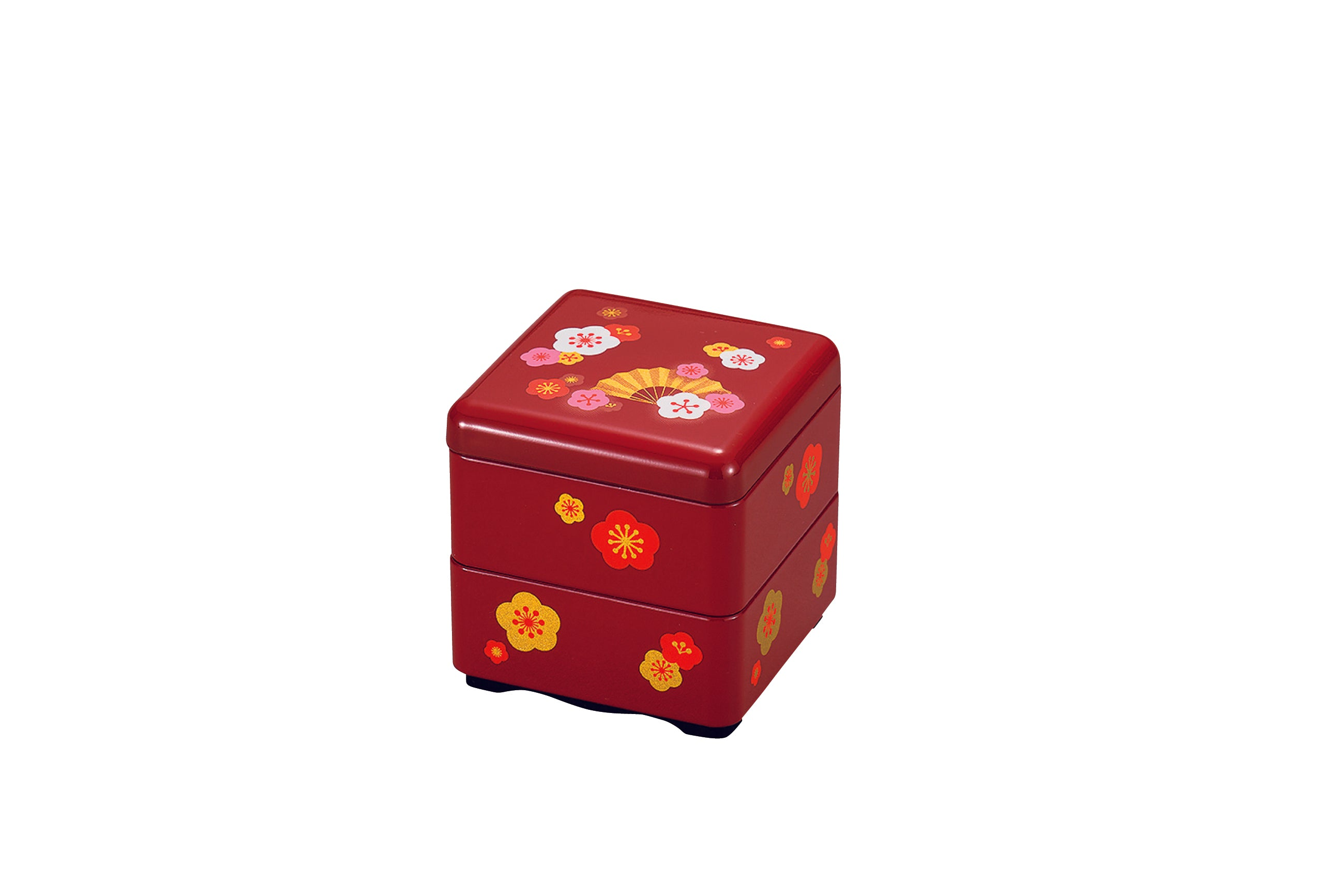 Sensu Sakura Square Bento Box Small | Red by Hakoya - Bento&co Japanese Bento Lunch Boxes and Kitchenware Specialists