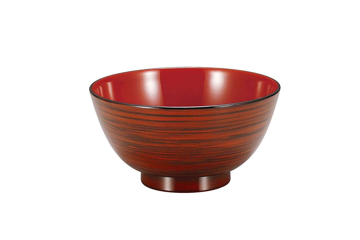 Red Woodgrain Ramen Bowl by Hakoya - Bento&co Japanese Bento Lunch Boxes and Kitchenware Specialists