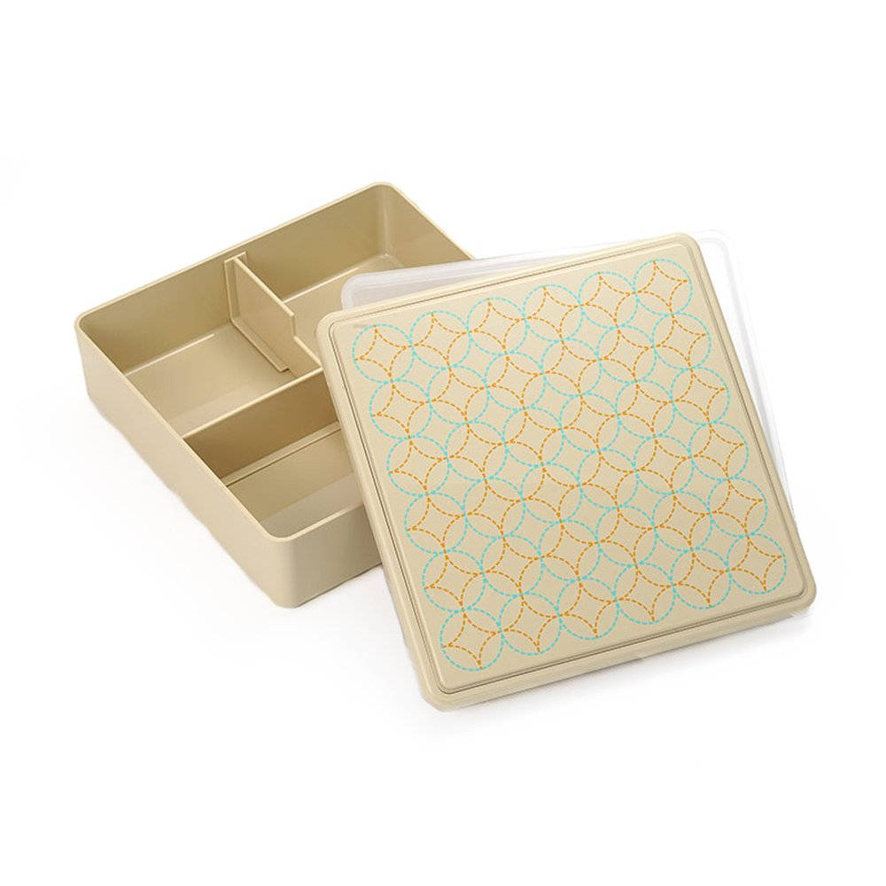 Gel-Cool Ojyu Shokado Bento Box | Beige by Gel Cool - Bento&co Japanese Bento Lunch Boxes and Kitchenware Specialists