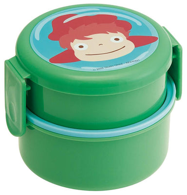 Ponyo Round Two Tier Lunch Bowl by Skater - Bento&co Japanese Bento Lunch Boxes and Kitchenware Specialists