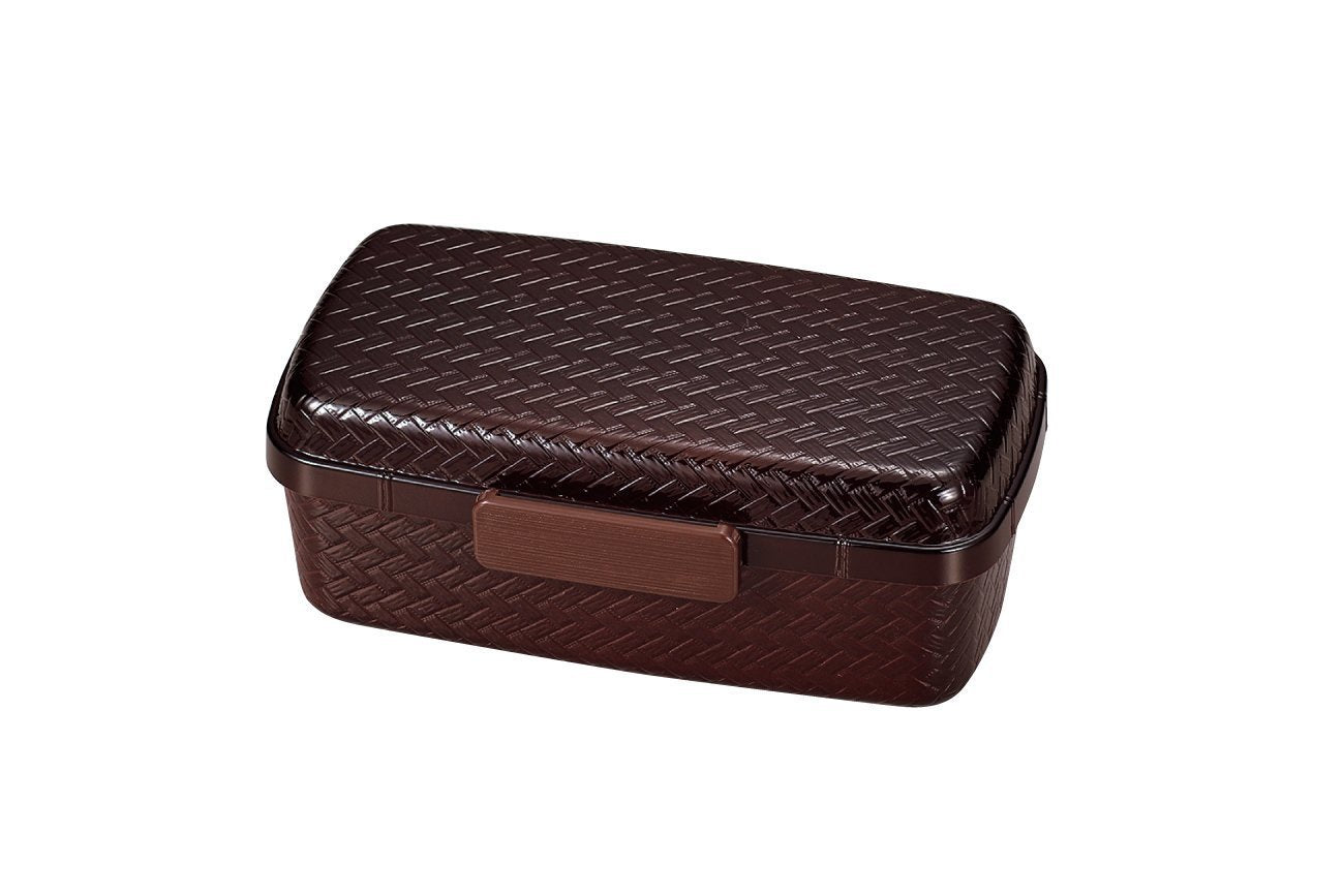 Ajiro Bento Box 800ml Dark Brown by Hakoya - Bento&co Japanese Bento Lunch Boxes and Kitchenware Specialists