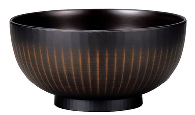 Dark Woodgrain Ramen Bowl Large by Hakoya - Bento&co Japanese Bento Lunch Boxes and Kitchenware Specialists
