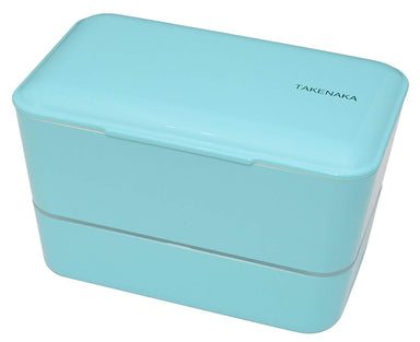Expanded Double Bento Box | Light Blue by Takenaka - Bento&co Japanese Bento Lunch Boxes and Kitchenware Specialists