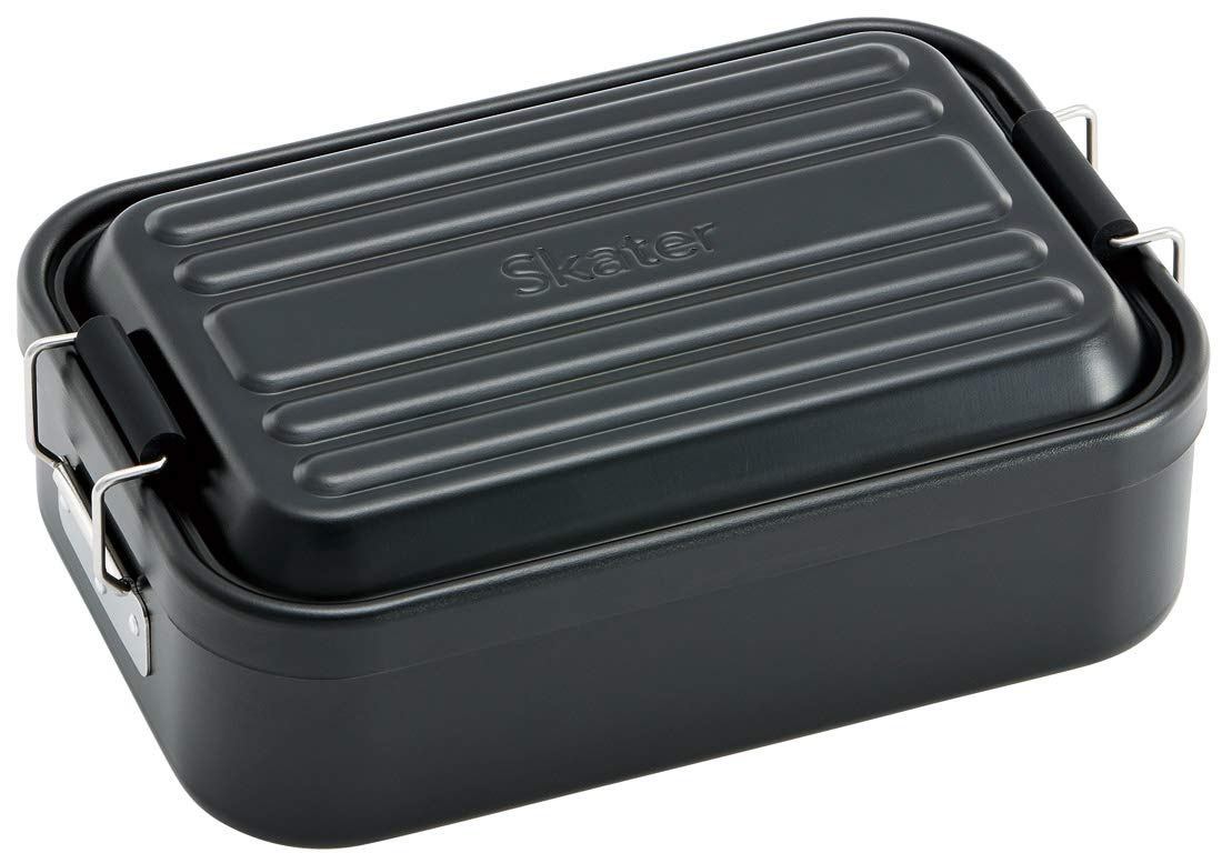 Aluminum Bento Lunch Box 1000ml | Black by Skater - Bento&co Japanese Bento Lunch Boxes and Kitchenware Specialists