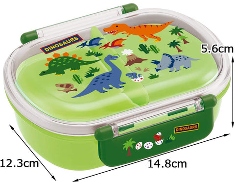 Dinosaurs Side Lock Bento Box | Oval by Skater - Bento&co Japanese Bento Lunch Boxes and Kitchenware Specialists