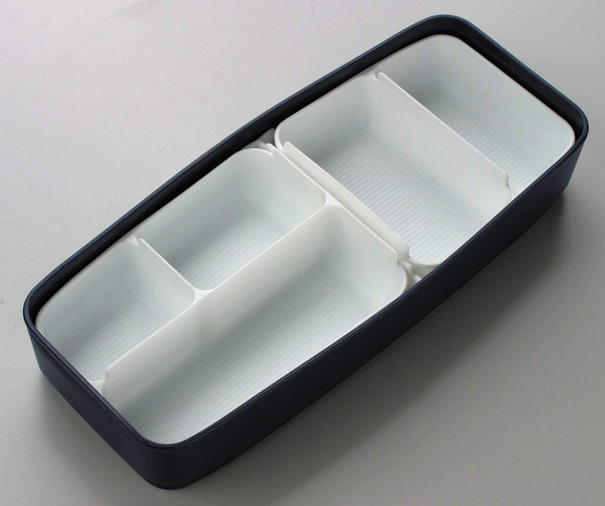 Shikiri Modern Plus Two Tier Bento Box | 900ml by Skater - Bento&co Japanese Bento Lunch Boxes and Kitchenware Specialists