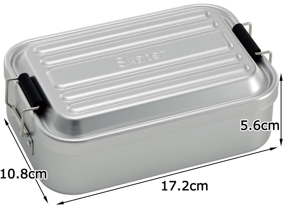 Aluminum Bento Lunch Box 600ml | Silver by Skater - Bento&co Japanese Bento Lunch Boxes and Kitchenware Specialists