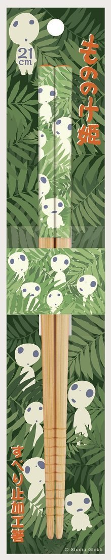 Princess Mononoke Bamboo Chopsticks by Skater - Bento&co Japanese Bento Lunch Boxes and Kitchenware Specialists