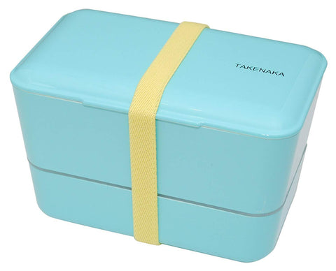 Expanded Double Bento Box | Light Blue by Takenaka - Bento&con the Bento Boxes specialist from Kyoto
