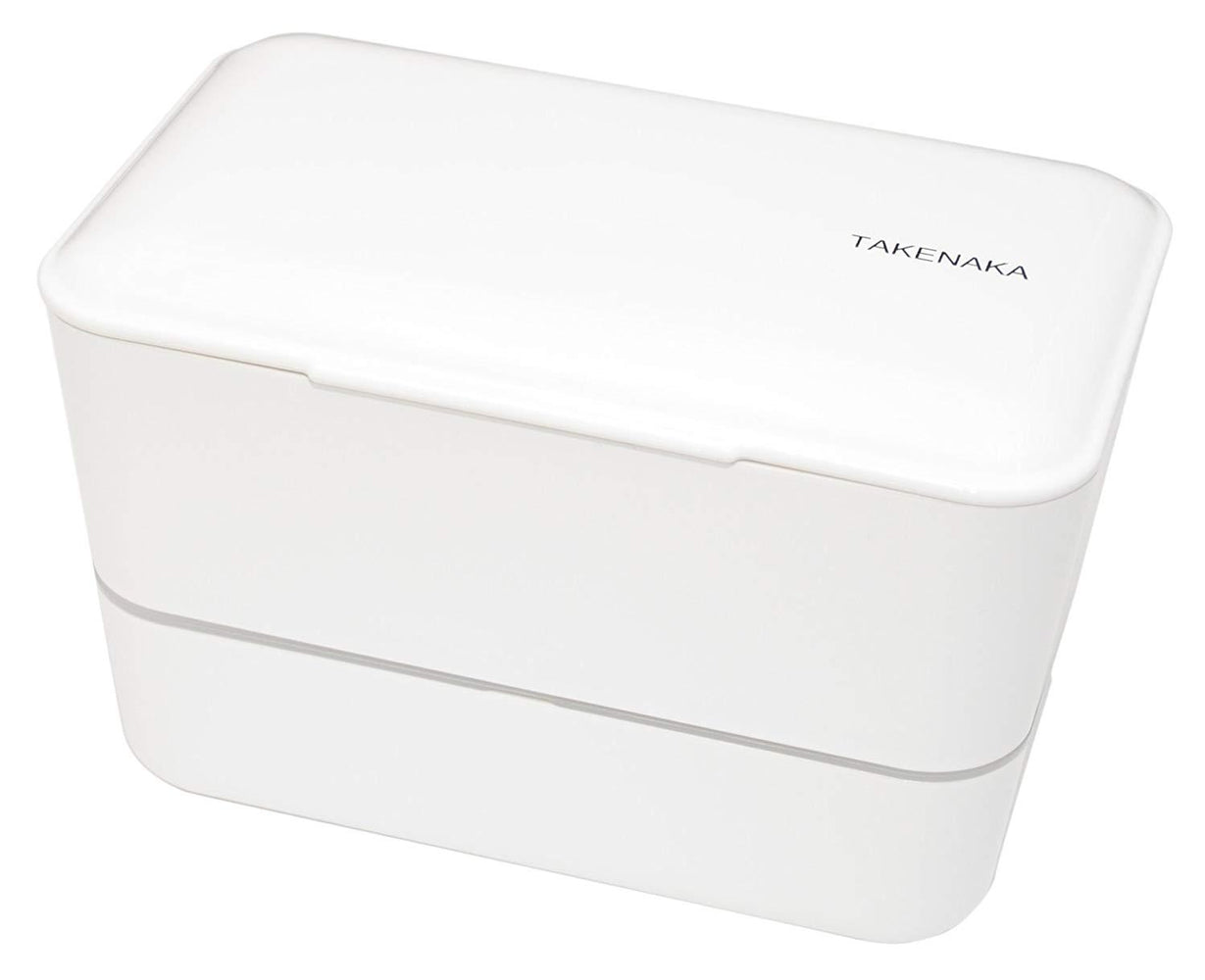 Expanded Double Bento Box | White by Takenaka - Bento&con the Bento Boxes specialist from Kyoto