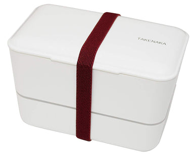 Expanded Double Bento Box | White by Takenaka - Bento&co Japanese Bento Lunch Boxes and Kitchenware Specialists