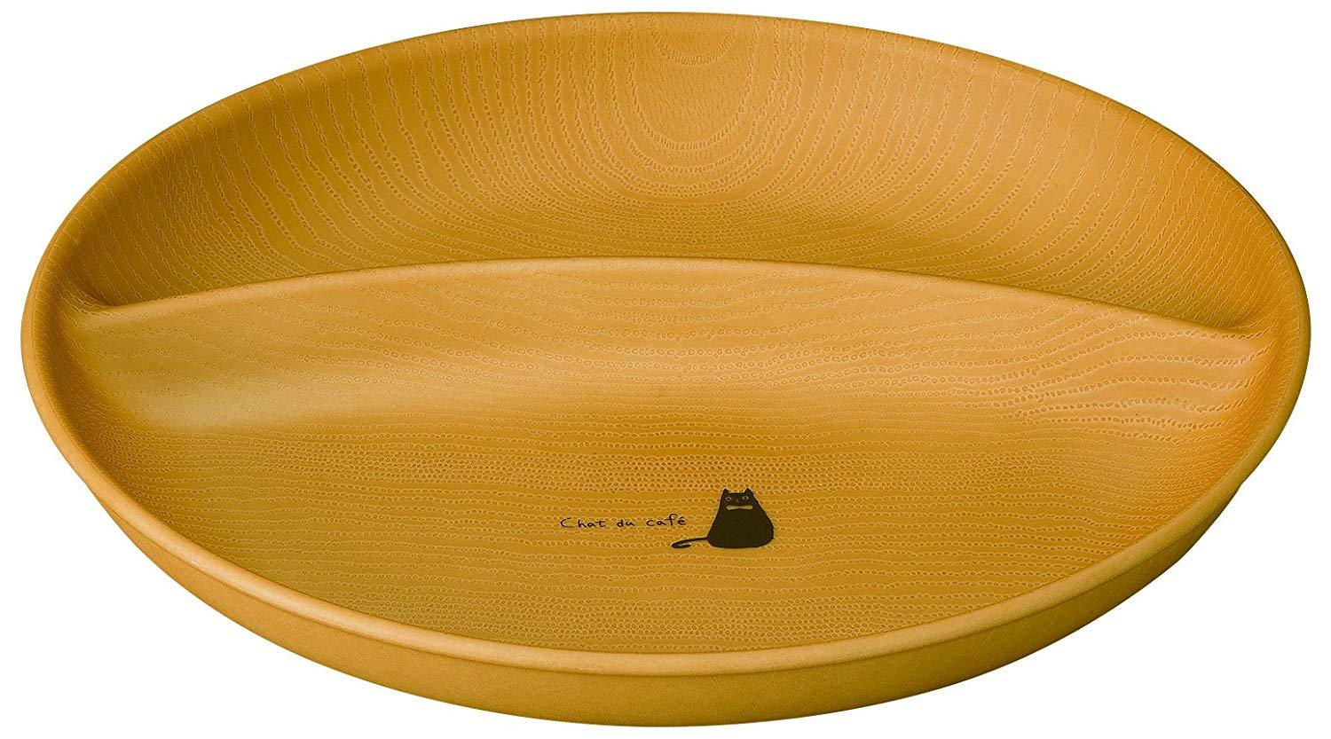 Chat du Café Divided Plate | Oval by Showa - Bento&co Japanese Bento Lunch Boxes and Kitchenware Specialists