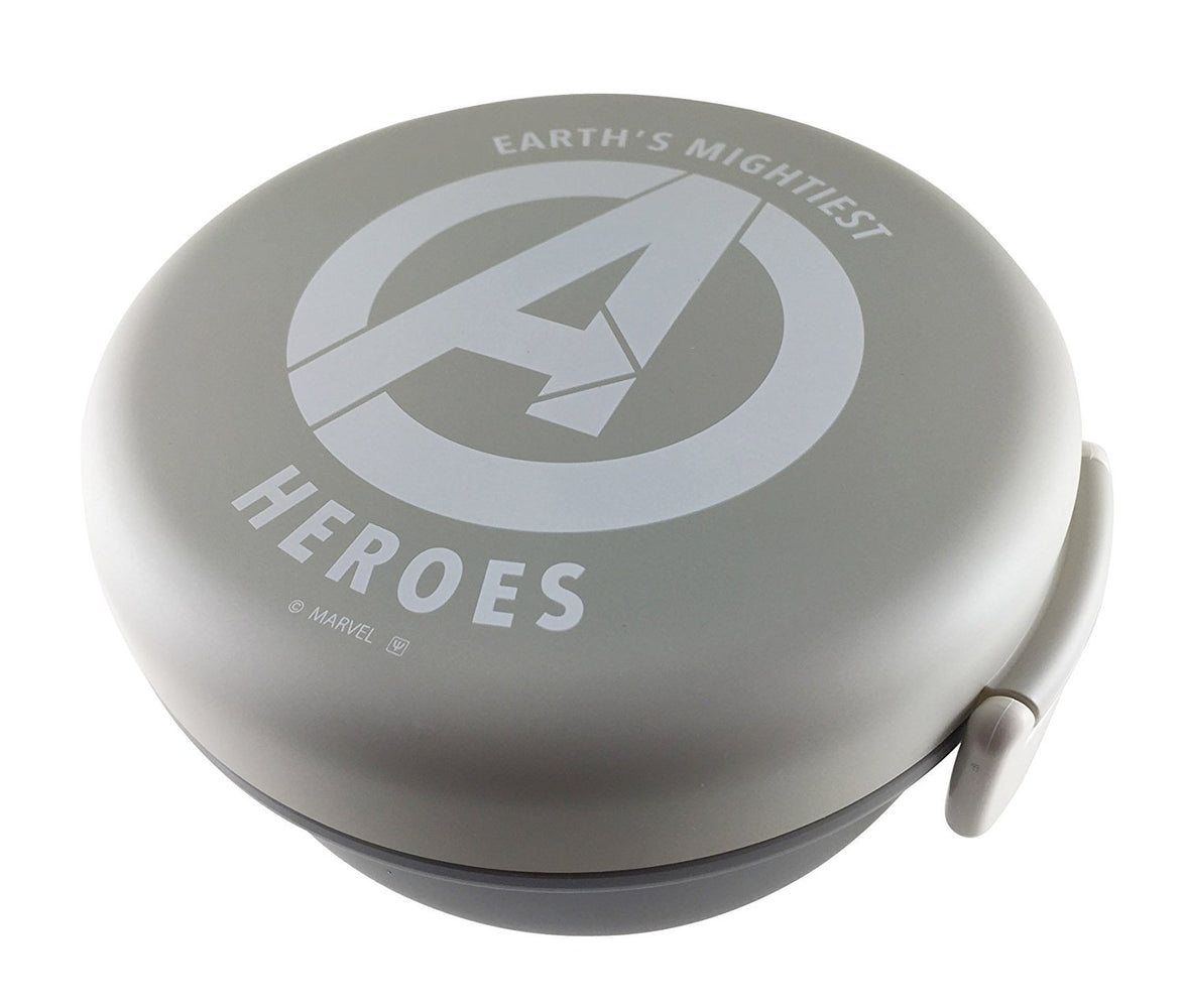 Avengers Bowl Bento - Grey and White by Yaxell - Bento&co Japanese Bento Lunch Boxes and Kitchenware Specialists