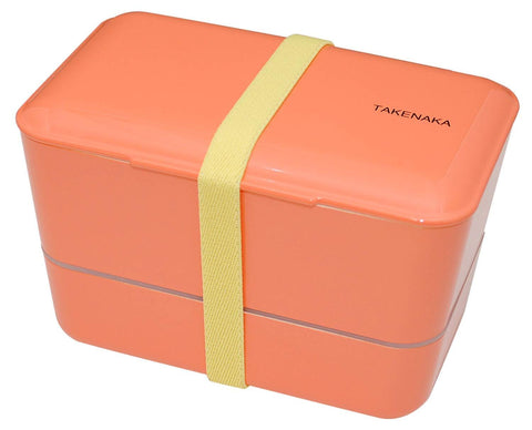 Expanded Double Bento Box | Coral by Takenaka - Bento&con the Bento Boxes specialist from Kyoto