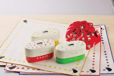 Chat du Cafe Oval Bento Box | Red by Showa - Bento&con the Bento Boxes specialist from Kyoto