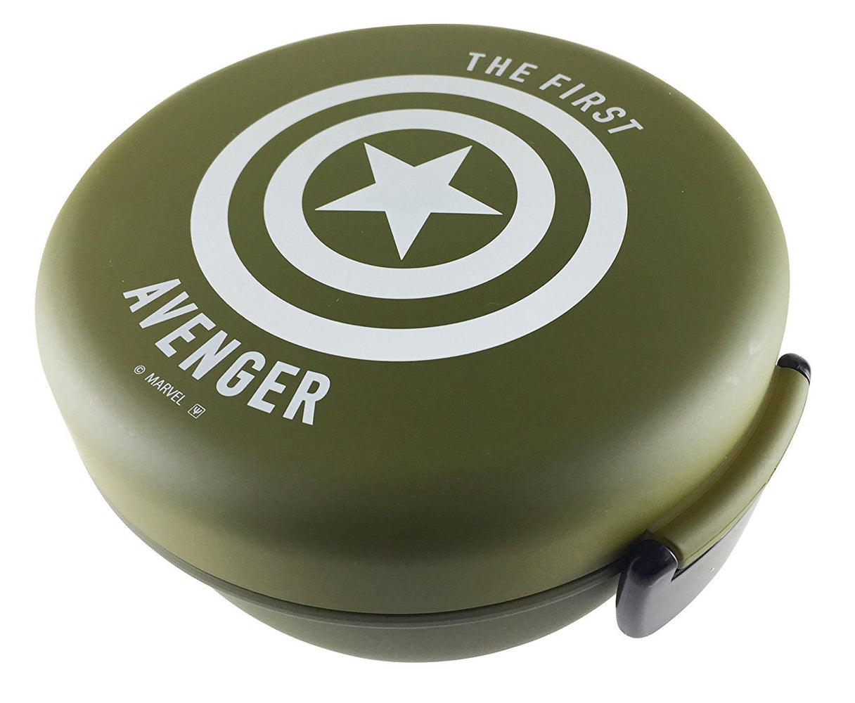 Avengers Captain America Bowl Bento - Military Green and White by Yaxell - Bento&co Japanese Bento Lunch Boxes and Kitchenware Specialists