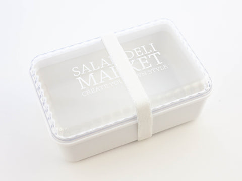Salad Deli Market Bento Box | White by Showa - Bento&co Japanese Bento Lunch Boxes and Kitchenware Specialists