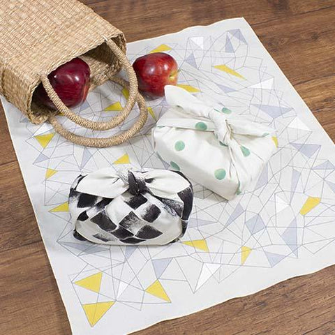 Organic Cotton Furoshiki | Cracked Ice Blue by Yamada Seni - Bento&co Japanese Bento Lunch Boxes and Kitchenware Specialists
