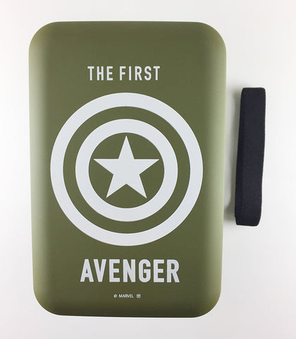 Avengers Captain America Two Tier Bento - Military Green and White by Yaxell - Bento&con the Bento Boxes specialist from Kyoto
