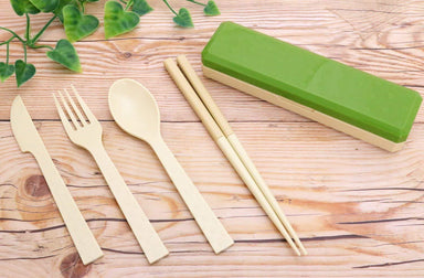 GO OUT Cutlery | Moss Green by Kokubo - Bento&co Japanese Bento Lunch Boxes and Kitchenware Specialists