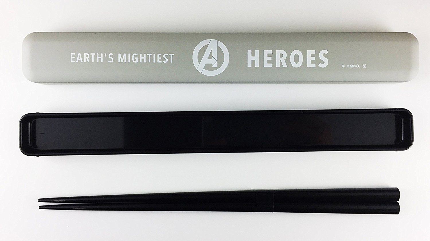 Avengers Chopstick Case- Grey and Black by Yaxell - Bento&co Japanese Bento Lunch Boxes and Kitchenware Specialists