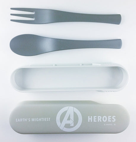 Avengers Spoon and Fork Cutlery Set - Grey and White by Yaxell - Bento&con the Bento Boxes specialist from Kyoto